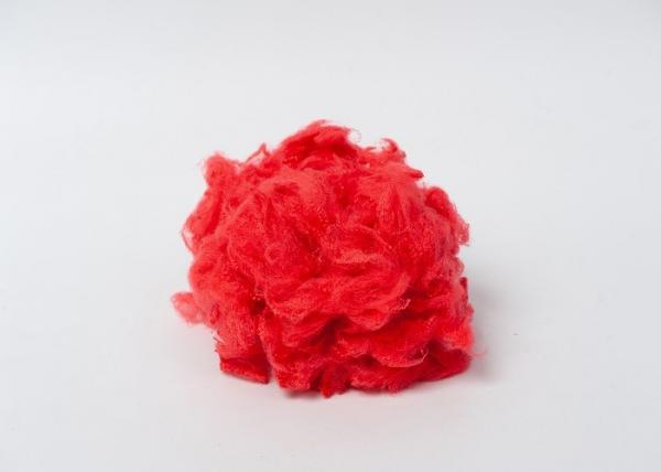 Quality Old Glory Red Polyester Staple Fibre,Red Regenerated Polyester Fiber , 1.5D-20D Material Polyester Fiber Crimp 8 Bows for sale