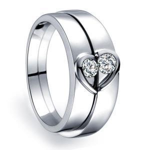 China Simple Gemstone Couple Ring wholesale