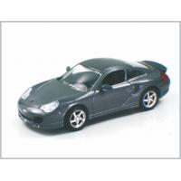 China 1 / 43 Diecast Carbon Black Alloy Custom Scale Model Cars Porsche 911 Turbo For Collection wholesale