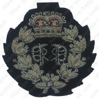 China Silver crown military bullion wire badges for police, school uniform clothes and goverments wholesale