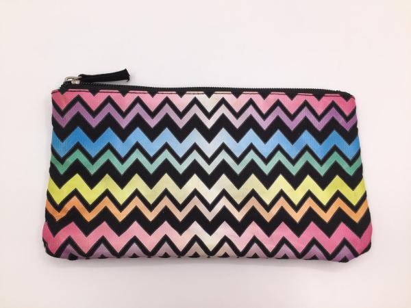 Quality Multi Color 6oz Canvas Women'S Makeup Bag , Waterproof Toiletry Bag 21.5*11.5cm for sale