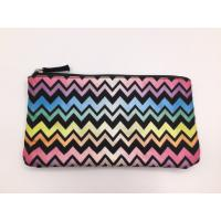 China Multi Color 6oz Canvas Women'S Makeup Bag , Waterproof Toiletry Bag 21.5*11.5cm wholesale