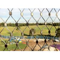 China Diamond Shape Stainless Steel Wire Rope Mesh Net For Animal Cages / Bird Netting wholesale