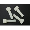 China Hex Socket M5 X 30 Cup Head Screws White Plastic PA 66 Flat Point UL94V-2 wholesale
