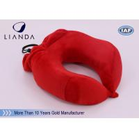 China U Shape Memory Foam Pillows / Multifunctional U shape Neck Pillow With Pouch wholesale