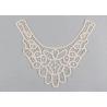 China Embroidered Guipure Lace Neck Collar Applique Cotton Venice Lace For Fashion Dresses wholesale