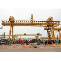 China Double Beam Truss Gantry Crane , Industrial A Frame Gantry Crane Rubber Tired wholesale