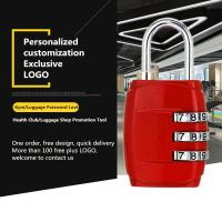 China Customized Mechanical Password Padlock For Zipper / Storage Boxes / Gym Lockers wholesale