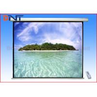 China Large Pull Down 180 Inch Projector Screen Ceiling Mount For Video Conference on sale