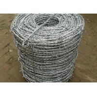 China Single / Double Barbed Wire Mesh Electric Galvanized 1.0-3.5mm Dia wholesale