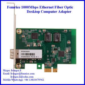 China 10/1001000Mbps Ethernet NIC Card SFP Slot Single Port Desktop Computer Network Card on sale