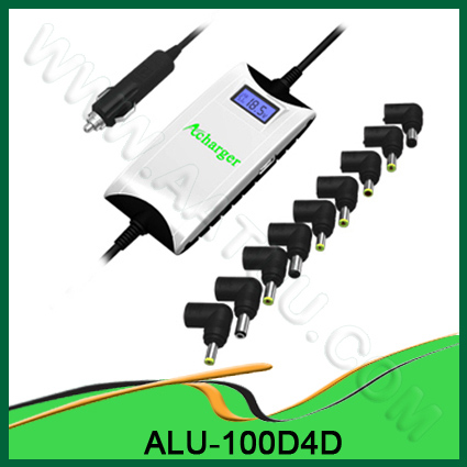 Quality 100W With Ultrathin Universal DC Laptop Adapter with USB port For Car Use ALU-100D4D for sale