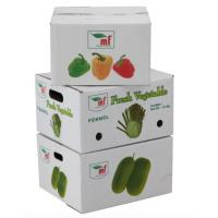China Eco - Friendly Vegetables Packing Boxes , Plain Cardboard Boxes For Food Packaging wholesale