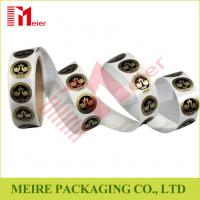 China Small round shaped sticker printing in roll for cake packaging design wholesale