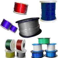 China Colorful Nylon Or Pvc Coated Steel Wire Rope For Bicycle Fittings on sale