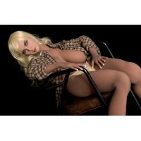 China 167mm Golden Hair Sex Silicon Doll Full TPE Big Boob Sex Love Company wholesale