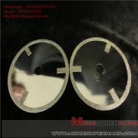 China Electroplated diamond cutting discs have very sharp cutting performance and generate minimum heat on sale