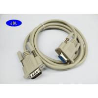 China Female To Male Verifone Cable 60℃ 50P PVC Beige Color DB 9 Pin Monitor Cables wholesale