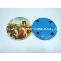 China Melody Flashing Cup Led Coaster Custom Sound Module 95mm Diameter wholesale