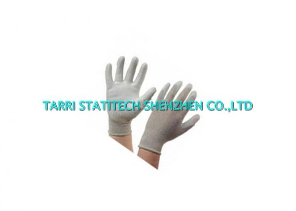 Palm Fit Anti Static Gloves Conductive PU 13g Knitted Copper Fiber Electrostatic Dissipative