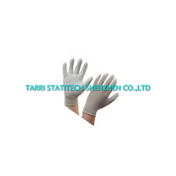 Quality Palm Fit Anti Static Gloves Conductive PU 13g Knitted Copper Fiber Electrostatic Dissipative for sale