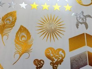 Quality Eco - Friendly Printable Gold Foil Paper , Paper Box Gold Foiling Printing for sale