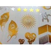 China Eco - Friendly Printable Gold Foil Paper , Paper Box Gold Foiling Printing wholesale