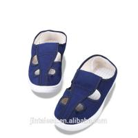 China Blue Anti Static Work Shoes , Short Canvas Shoes Non Woven Fabrics Material on sale