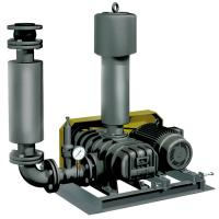 China Low Noise Three Lobe Roots Blower , Water Treatment Plant Positive Displacement Blower on sale