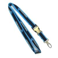 China 20mm Wide Reflective ID Card Holder Lanyard With Silk Screen Printed Logo wholesale