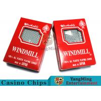 China 150g / Pcs Texas Holdem 100% Plastic Playing Cards For Casino Gambling Games on sale