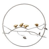 China Chinese Symbols Metal Wall Art in Stainless Steel Bird in Tree Wall Decal Lotus of Office for Home Decorations wholesale