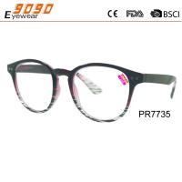 Buy cheap Hot sale style reading glasses , made of PC frame with spring hinge,metal silver pins,suitable for women from wholesalers