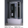 China Magnetic Lock Square Shower Cubicles 2 - hole Handles shower tub enclosures wholesale