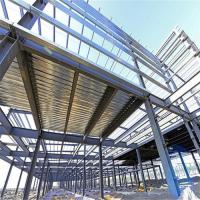 China Durable Garage Steel Frame For High Building With Grey Paint / Floor Decking wholesale