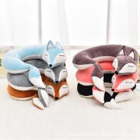 China Lovely Fox Animal Cotton Plush U Shape Neck Pillow Travel Car Home Pillow Nap Pillow Health Care wholesale