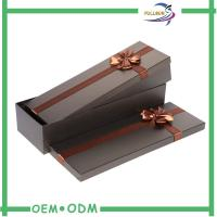 Handmade Brown Square Flower Packaging Gift Boxes with Ribbon Bow