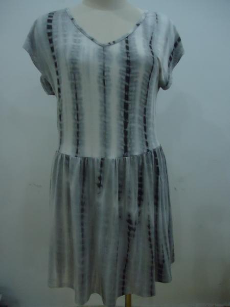 Quality Loose Fit Unique Tie Dye Maxi Dress , Blouson Cocktail Dresses For Summer for sale