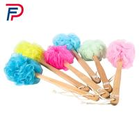 China Factory directly beautiful body cleaning plastic bath brush with long handle wholesale