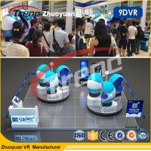 China Amusement Park 9d Motion Ride / 9d Cinema Simulator With Virtual Reality 80pc Movies wholesale