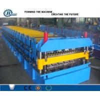 China Corrugated Iron Double Layer Roll Forming Machine , Concrete Roof Tile Making Machine wholesale