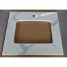 "China 22"" Wide Calcutta Quartz Bathroom Vanity Tops Anti - Stain Quartz Tile Countertop wholesale"
