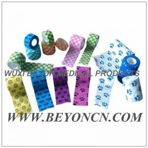 Buy cheap Los deportes flexibles cohesivos impresos modelo graban/cinta atlética coloreada from wholesalers