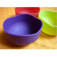 China Colorful Silicon Kitchenware Utensils / Cookware, Non-toxic Foldable Silicone Baby Bowl wholesale