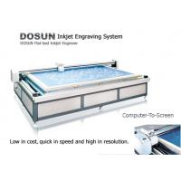 China 360DPI / 720DPI High Resolution Flatbed Inkjet Engraver / Textile Flat Inkjet Engraving Machine wholesale