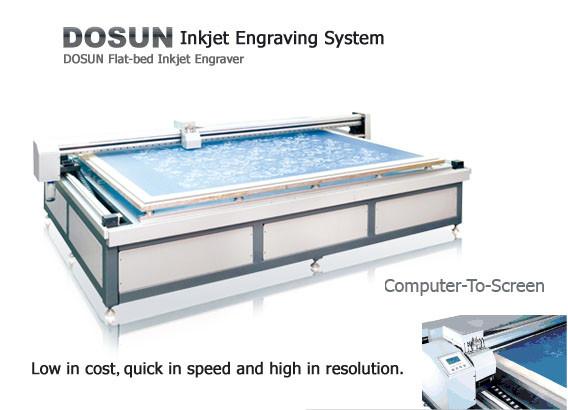 Quality 360DPI / 720DPI High Resolution Flatbed Inkjet Engraver / Textile Flat Inkjet Engraving Machine for sale