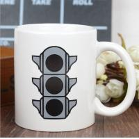 China Promotional Eco Friendly Mugs , Color Changing Coffee Cups Exquisite Traffic Logo wholesale