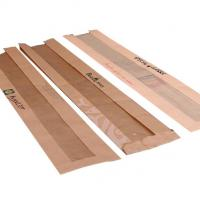 China Kraft Recycled Paper Food Bags , Paper Bags For Food Packaging With Window wholesale