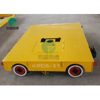 China 5 Ton Motorized Tool Steerable Material Transfer Trackless Electric Handling Car On Wheels wholesale