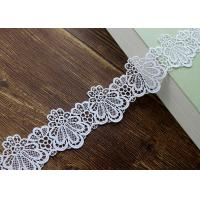 Azo Free DTM Guipure Embroidered Dress Lace Trim Ribbon With High Color Fastness